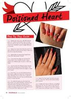 Poisoned heart -Step by Step in Your Nails Magazine