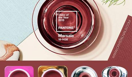 Best Nails - MARSALA - Pantone color of the year 2015