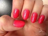 Neon sparkling pink