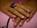 Rózsaszín csillámos Porci virággal