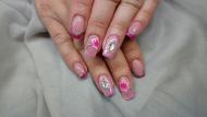 Best Nails - Akril virág és sok swarovski