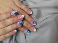 Best Nails - Kék virágos