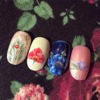 Best Nails - Legutóbb tanult virág mintáim