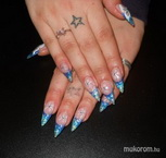 Best Nails - Melinda zselés kék átmenetes téli