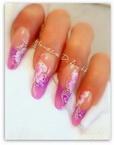 Best Nails - lila virággal
