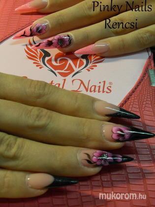 Dobi Renáta Csilla- Pinky Nails -Crystal Nails Elite referencia szalon - Pink fekete - 2013-01-13 20:35