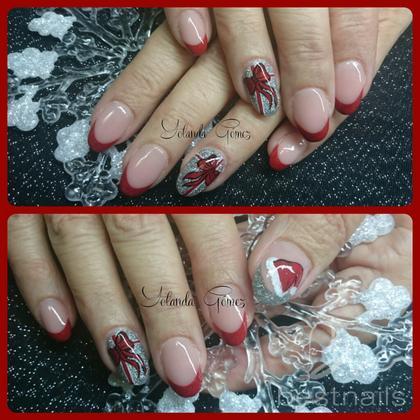 Love Nails by Yolanda Gómez - Uñas Esculpidas en acrílico diseño navidad - 2014-12-28 13:09