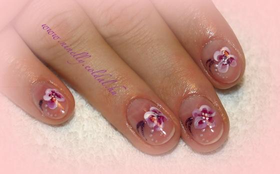 Art4you Nails - lila-rózsaszín akrill-díszítés manikűr után - 2010-01-02 14:48