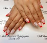 Best Nails - csillogó piros francia