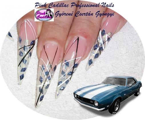 Gyöngyi Györené Csertán - Blue nail art - 2020-10-03 19:57