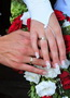 Esküvői köröm, porcelán virágokkal