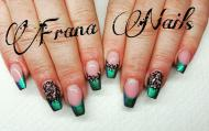 Best Nails - Zöld francia
