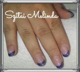 Best Nails - kék csillámos