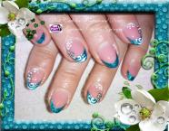 Best Nails - Blue nail art