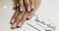 Best Nails - Francesa con estampo floral