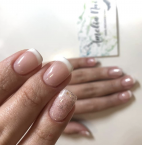 Best Nails - Francesa con stamping y brilli brilli