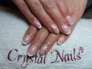 Best Nails - csillámos francia