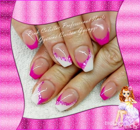 Pink Nail - Francia köröm minták
