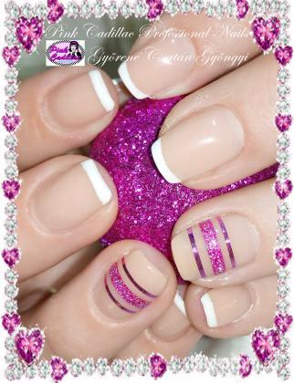 Györené Csertán Gyöngyi - Pink Cadillac Professional Nails Körömszalon - French nail art - 2018-12-27 15:36