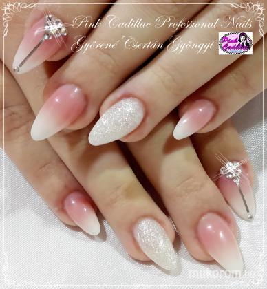 Györené Csertán Gyöngyi - Pink Cadillac Professional Nails Körömszalon - Babyboomer nail art - 2018-12-27 15:37