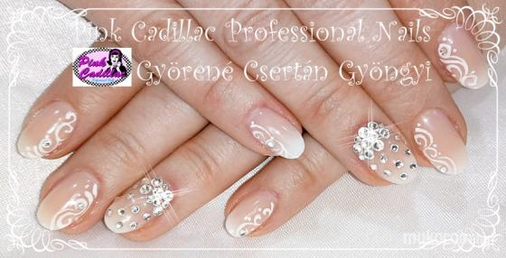 Györené Csertán Gyöngyi - Pink Cadillac Professional Nails Körömszalon - Babyboomer nail art - 2018-12-30 20:50
