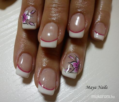 Rába Marianna Maya - francia alapon akril virággal - 2011-04-18 16:30