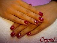 Best Nails - Piros gél lakk kövekkel