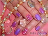 Best Nails - Anett márványos tavaszi körme