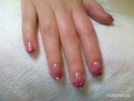 Best Nails - gel lac csillámmal2