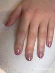 Best Nails - gel lac mályvás csillámmal1