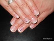 Best Nails - Enikő lila köves gél lakk