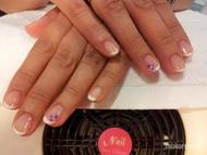 Best Nails - GEL LAC lila dísszel