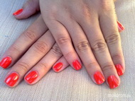 Best Nails - red mandarin