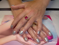 Best Nails - Silver gel lac