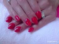 Best Nails - ferrari piros gel lac