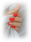 Best Nails - red mandarin