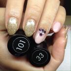 Best Nails - nude arany