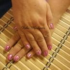 Rózsaszín chrome gél lakk