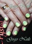 zöldes ombre géllakk