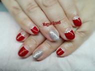 Red dot nails