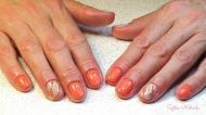 Best Nails - narancs mintás