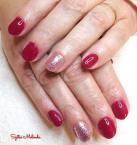 Best Nails - piros ezüst