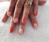 Best Nails - Barackvirágos narancsos