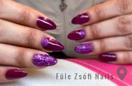 Best Nails - Lila rombuszos