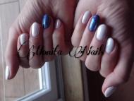 White pearl kékkel