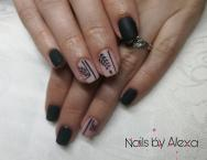 Best Nails - Black and nude nails