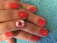 Best Nails - Gellac festett virággal