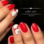 Piros fehér virággal