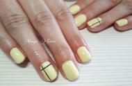 Best Nails - Sárga gél lakkozás
