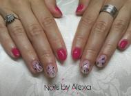 Flower and pink nails